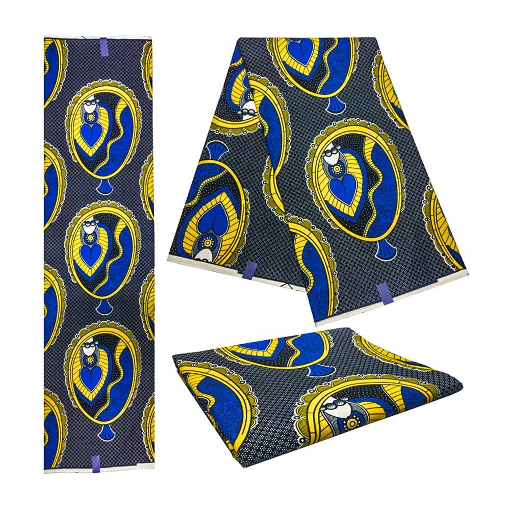 Wholesale! 2019 High Quality African Prints Fabric Veritable Dutch Wax Nigerian Style 6 Yards/pcs 100% Cotton