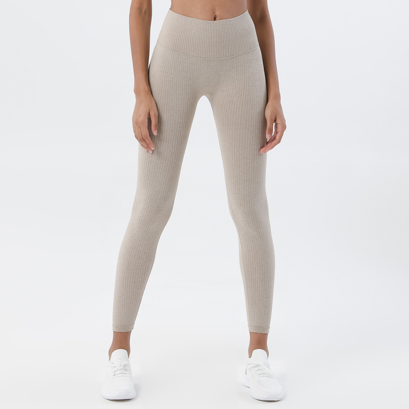 Leggings For Fitness Women High Waist Soft Ribbed Seamless Sport Leggings Push Up Woman Tights Squat Proof Feamle Yoga Pants