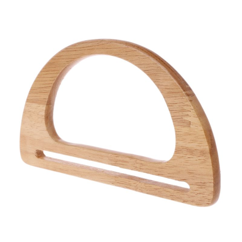 Wooden Handles Replacement For Handmade Bag Handbags Purse Handle Frame Shopping Tote 517D