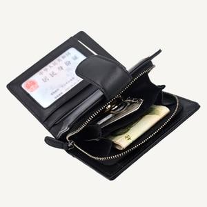 Image 4 - 女性の財布ショート 100% シープスキン革織コイン変化ジッパー収納袋ファッションシンプルな高級ブランドMoneyClip2020 新