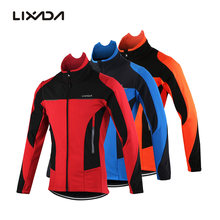 Lixada Men's Outdoor Cycling Jacket Winter Thermal Breathable Comfortable Long Sleeve Coat Water Resistant Riding Sportswear(China)