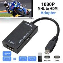 Typ C & Micro USB Zu HDMI 1080P HD Audio Video Kabel für HDTV Konverter Adapter Für TV PC laptop Telefon Tablet