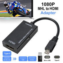 Type C & Micro USB To HDMI 1080P HD Audio Video Cable for HDTV Converter Adapters For TV PC Laptop Phone Tablet