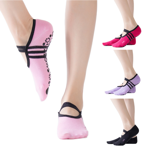 Brand Hot Sell New Cotton Sports Yoga Socks Ladies Ventilation Pilates Ballet Socks Dance Sock Slippers Women Socks Pakistan
