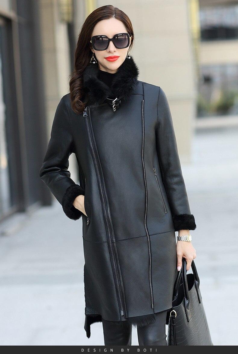 Faced Double Luxury Fur Coat Winter Coat Women Natural Wool Fur Jacket Women Genuine Sheepskin Coat Windbreaker MY4550