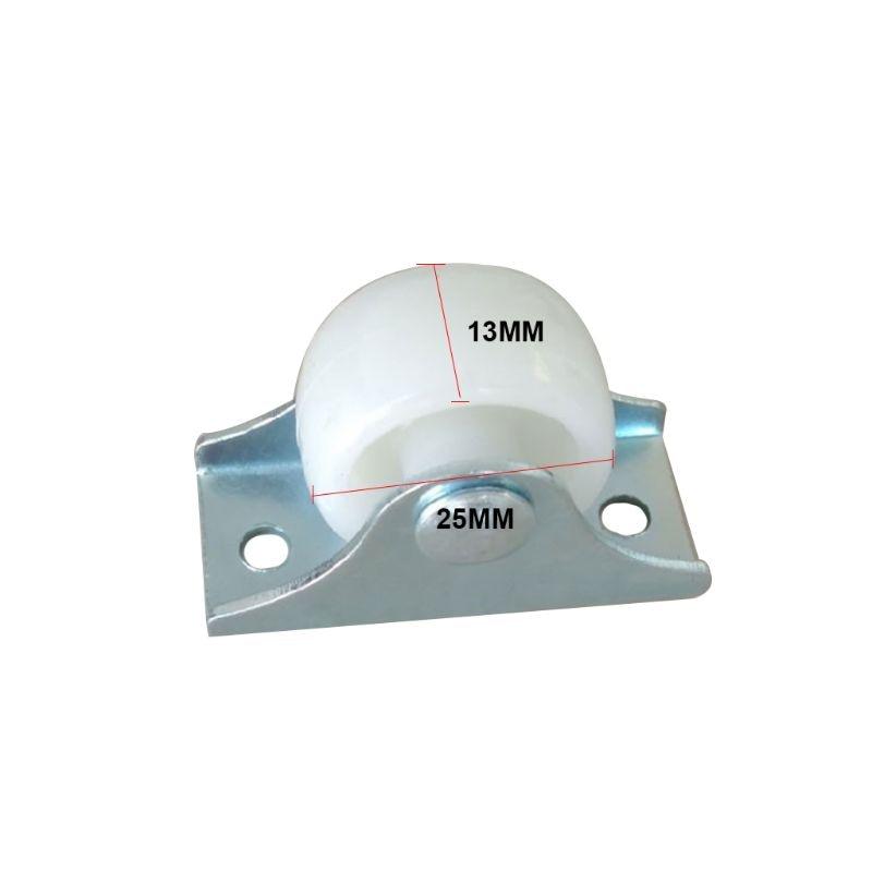 Resistentes fixos em trilho branco, pequeno acessórios de ferragem direcional de plástico para móveis da roda única viagem com 10 peças-3