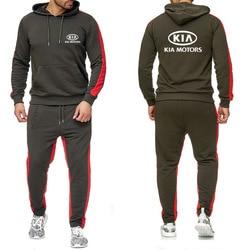 Мужские толстовки с капюшоном для KIA Motors, толстовка с логотипом автомобиля, модные повседневные флисовые толстовки, мужские весенне-осенние...