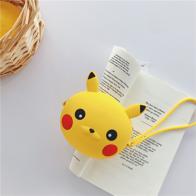 Q UNCLE Imaginative Cartoon Coin Purse Chain Diagonal Bag Portable Key Earphone Storage Bags Silicone Kawaii Wallet Zipper Pouch
