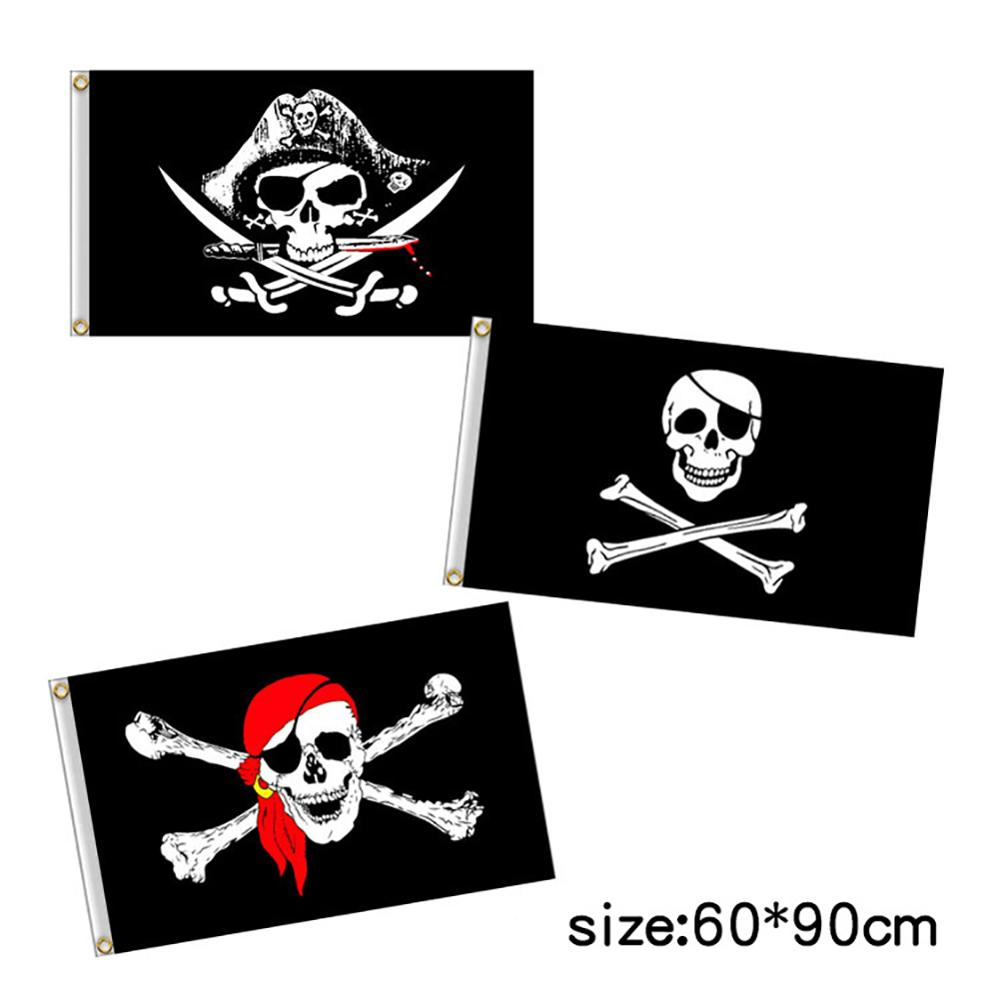 60x90cm Pirate Flag Calico Flag Skull Flag Polyester Banner Flags And Banners Home Decor Fade Resistant Jolly Roger Flag Decor