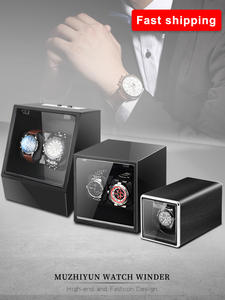 Box-Accessories Watch Winder Mechanical Automatic Display for Men Velvet Rotating-Uhrenbeweger
