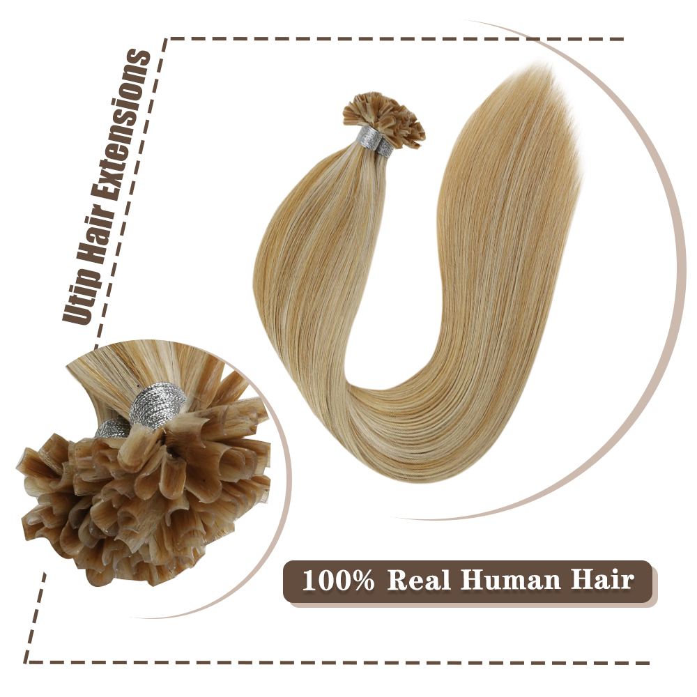 Moresoo U Tip Keratin Hair Extension Machine Remy Human Hair Pre-bonded Fusion Hair 50G 100% Real Human Hair Nail Tip