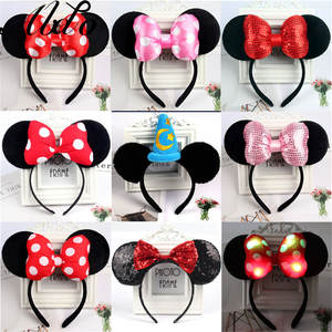 Hair-Accessories Headwear Hairbands Photography-Props Birthday-Party Girls Minnie Lovely