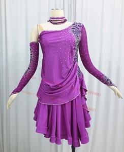 Image 1 - ラテンダンススカート大人の高品質ステージタンゴルンバサンバ衣装女性のラテン競争ダンスドレス