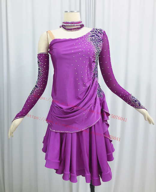 Latin Dance Skirt Adult High Quality Stage Tango Rumba Samba Costume Ladys Latin Competition Dancing Dress