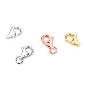 925 пробы серебряная застежка-лобстер для Diy браслета, ожерелья, ювелирных изделий, ювелирных изделий и компонентов