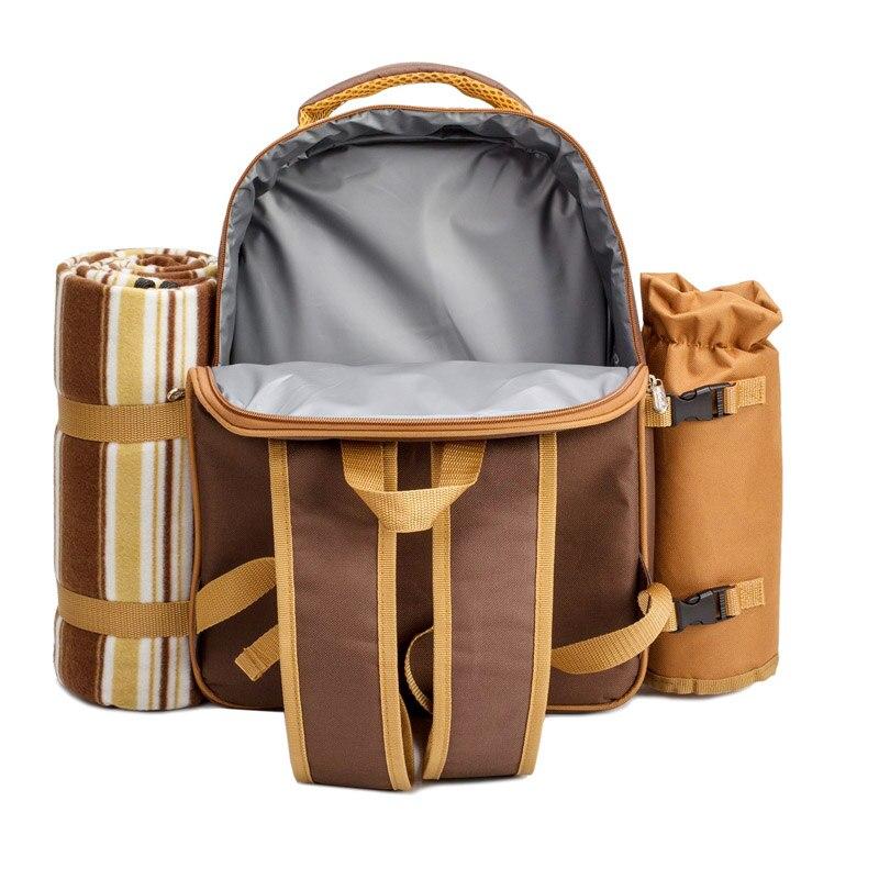 Sacchetto di Picnic di campeggio Portatile zaino con posate borsa frigo cubiertos set da picnic per 4 di Campeggio sacchetti più freddi con spedizioni gratuite in coperta - 3
