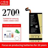 Lehehe c5 bateria para samsung c5000 c5010 c5pro c910 ciclo zero de alta capacidade 2700 mah com ferramentas de desmontagem livres