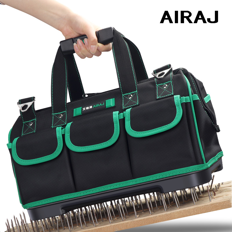 AIRAJ 16/18 Inch Tool Bag Large Capacity Rubber Bottom Oxford Cloth Waterproof Electric Tool Kit Electrican Bag Storage