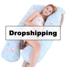 Новая поддерживающая Подушка для сна для беременных с хлопковой наволочкой для женского тела u-образные подушки для беременных боковой Комплект постельного белья без наполнителя