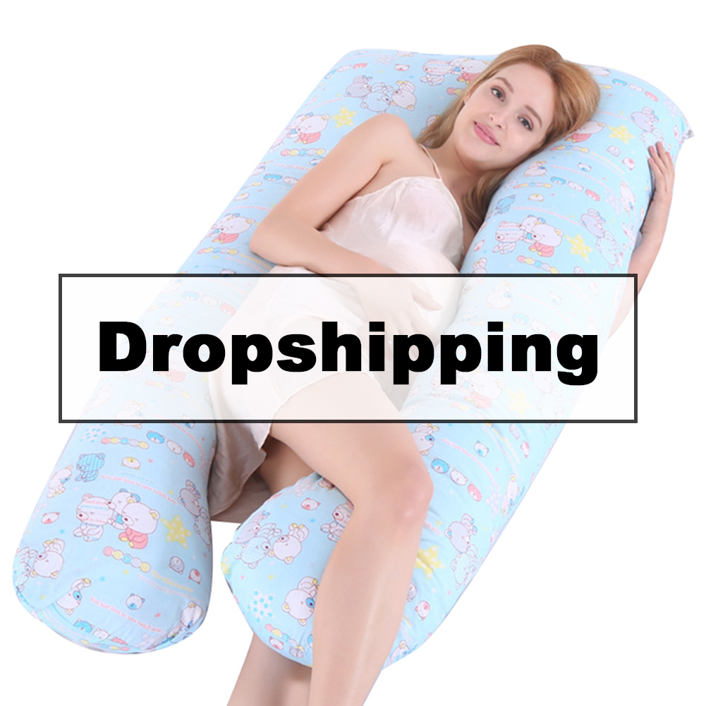 New Support Sleeping Pillow For Pregnant Women Body Cotton Pillowcase U Maternity Form Pillows Pregnancy Side Bed Suit No Filler