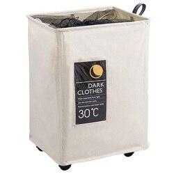 Katlanabilir depolama sepeti tekerlekli büyük mendil çantası çamaşır sepeti çeşitli eşyalar için oyuncak raf kirli giysiler çamaşır sepeti promosyon