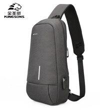 Kingsons marca nova masculino crossbody sacos de ombro alta qualidade tote moda homem negócios mensageiro saco grande tamanho divisão sacos peito