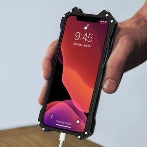 Image 5 - حافظة لهاتف أبل آيفون 11 برو X XS MAX XR 5 Se 6 6s 7 8 Plus 12 PRO حافظة ألومنيوم معدن باتمان درع واقي للصدمات
