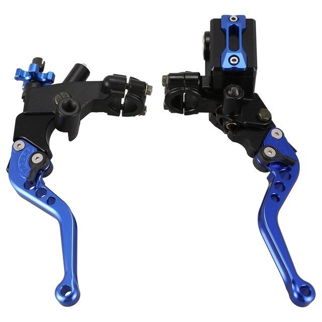 7//8inch CNC Universal Motorcycle Brake Clutch Master Cylinder Lever Set