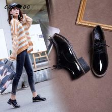 2020 New Spring Casual Ins Single Shoes Women Chic Retro British Style Students Korean Version Of The Wild Ulzzang цена 2017