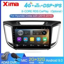 Автомобильный мультимедийный видеоплеер XIMA, Android 9,0, 2 Гб + 32 ГБ, для hyundai Creta ix25 2015-2019, 2din, радио, без dvd