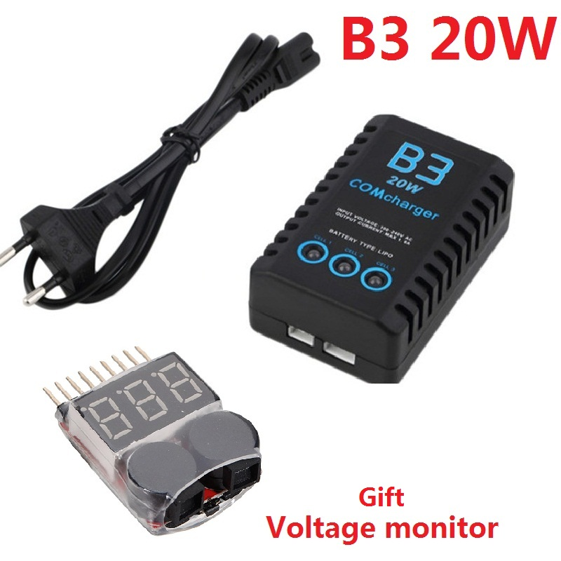IMAX B3 20W 11 1V 2S- 3S Lipo Battery Balance Charger   AU UK EU US Plug with Voltage monitor