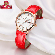OLMECA Top Brand Calendar Week Luxury Women Quartz Watch Fas