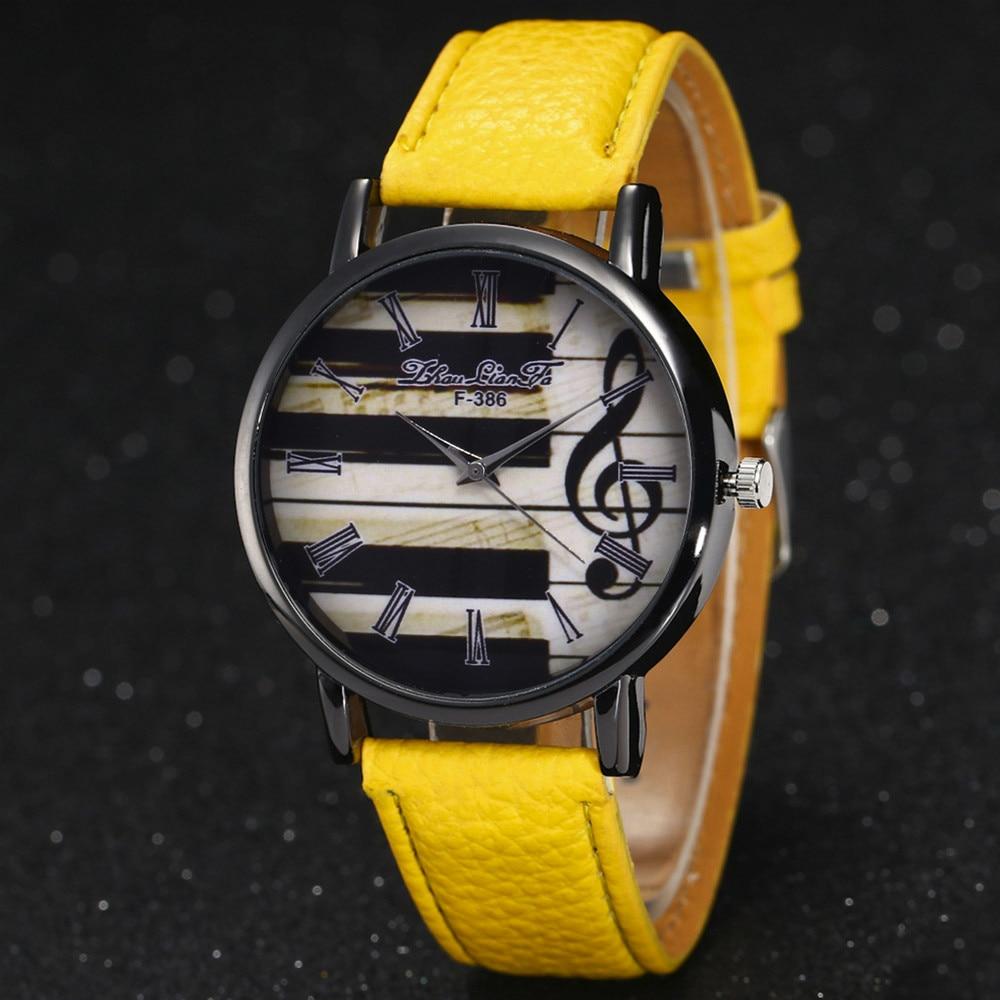 Новинка 2017, модные роскошные женские наручные часы с кожаным ремешком и циферблатом, женские кварцевые часы в подарок