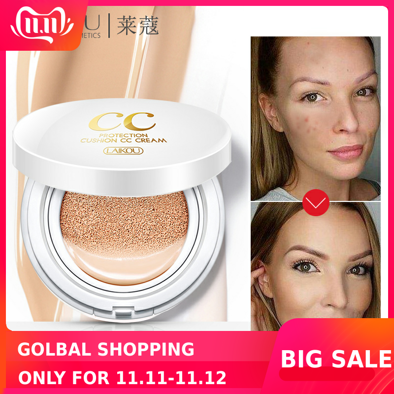 Sunscreen Air Cushion BB CC Cream Concealer Moisturizing Foundation Whitening Makeup Bare For Face Beauty Makeup Korean Cosmetic