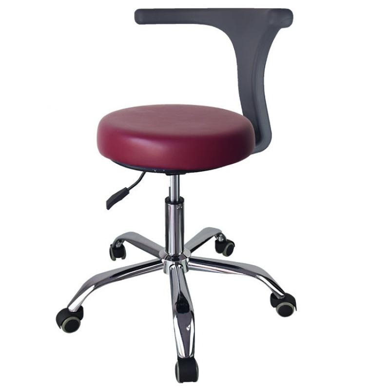 Ergonomic Doctor Stool Dentist Swivel Rolling Chair With Back Swivel Adjustable Dentist Stool Dental Clinic SpaMassage