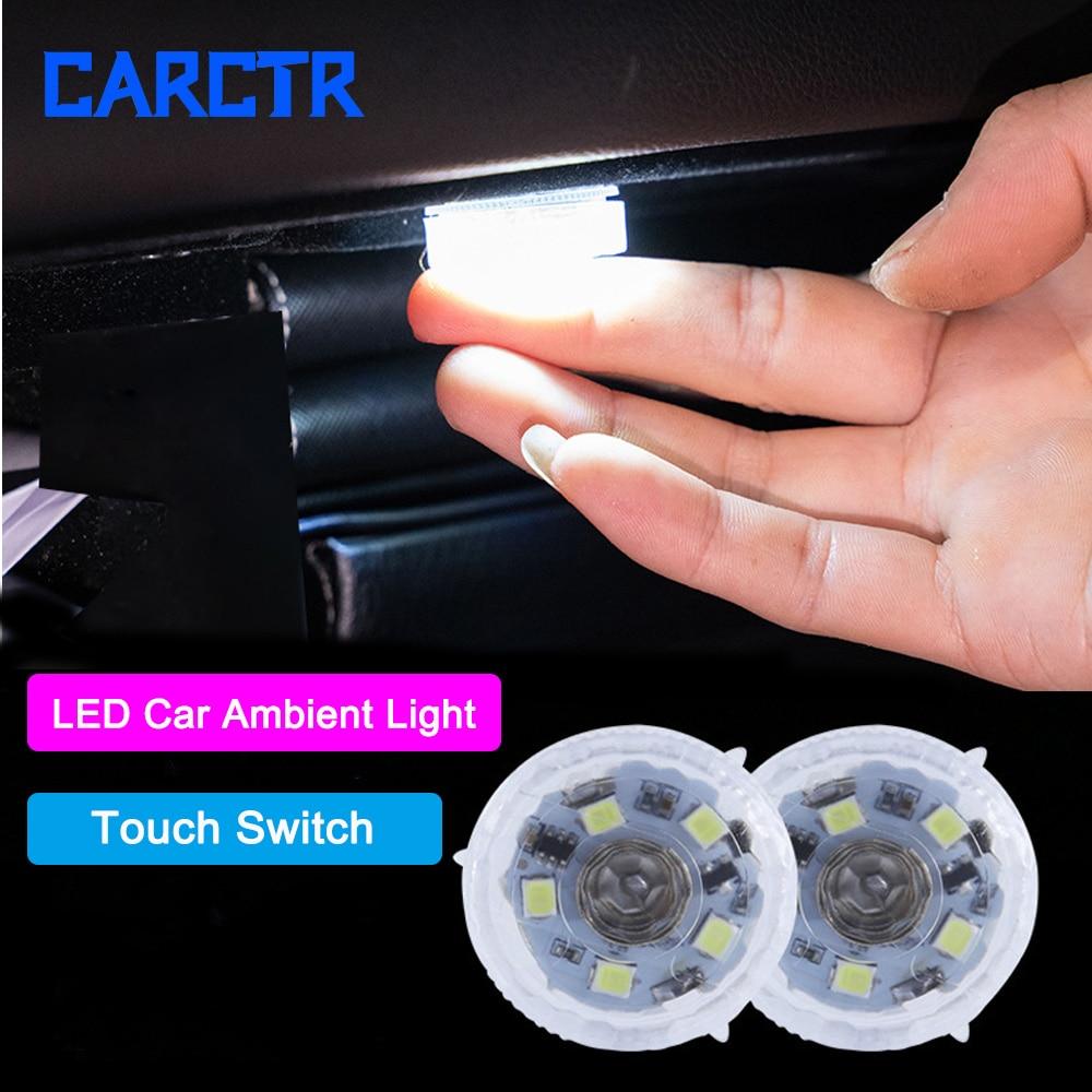 CARCTR 1/10 pièces voiture lumière intérieure Mini lampe de lecture Auto tactile veilleuse voiture toit plafonnier accessoires déclairage de voiture