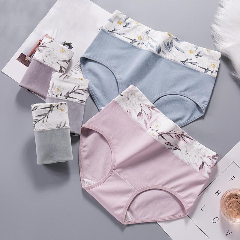 Women's briefs Comfortable All cotton seamless abdomen Cotton High waist underwear Women Sexy Ultra-thin Panties