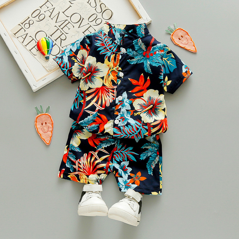 Boys clothing sets summer kids fashion shirts+shorts 2pcs tracksuits for baby boys children sleepping wear clothes 2020 new