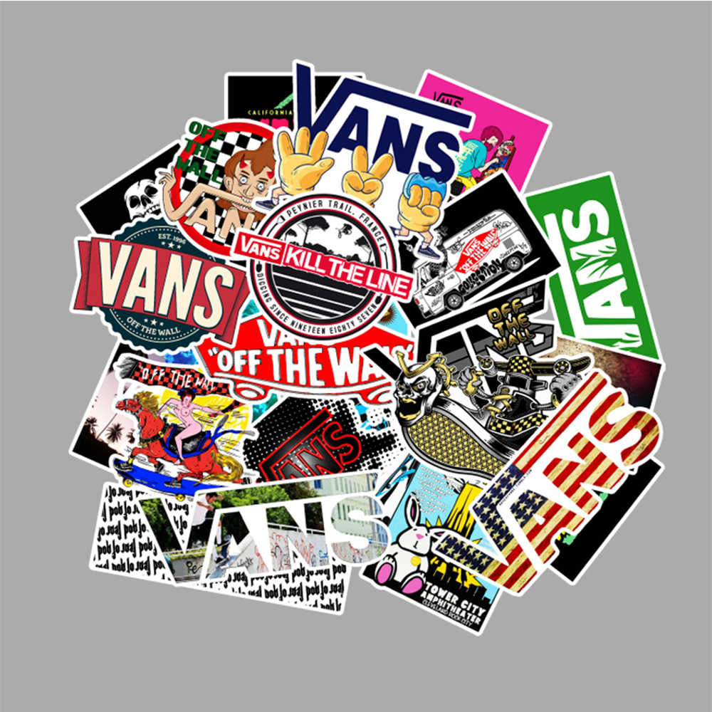 100 Pcs/lot Fashion V Off The Wall pvc Stickers Decor for car Laptop Trunk Guitar cool Skateboards  brand vsco kpop Stickers