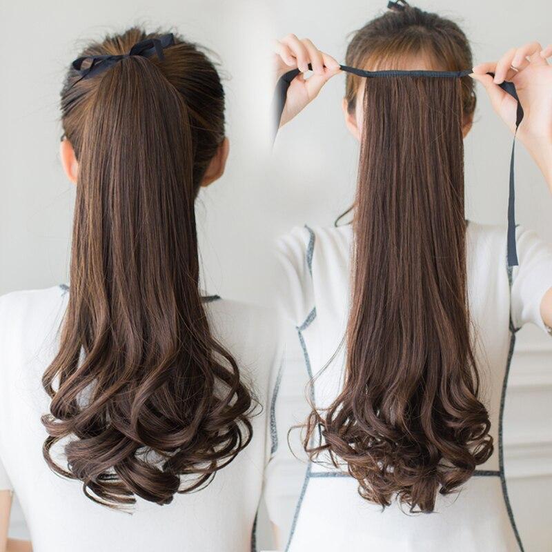 MANWEI длинные женские кудрявые заколки для волос хвост накладные волосы конский хвост заколки для волос синтетические волосы конский хвост у...