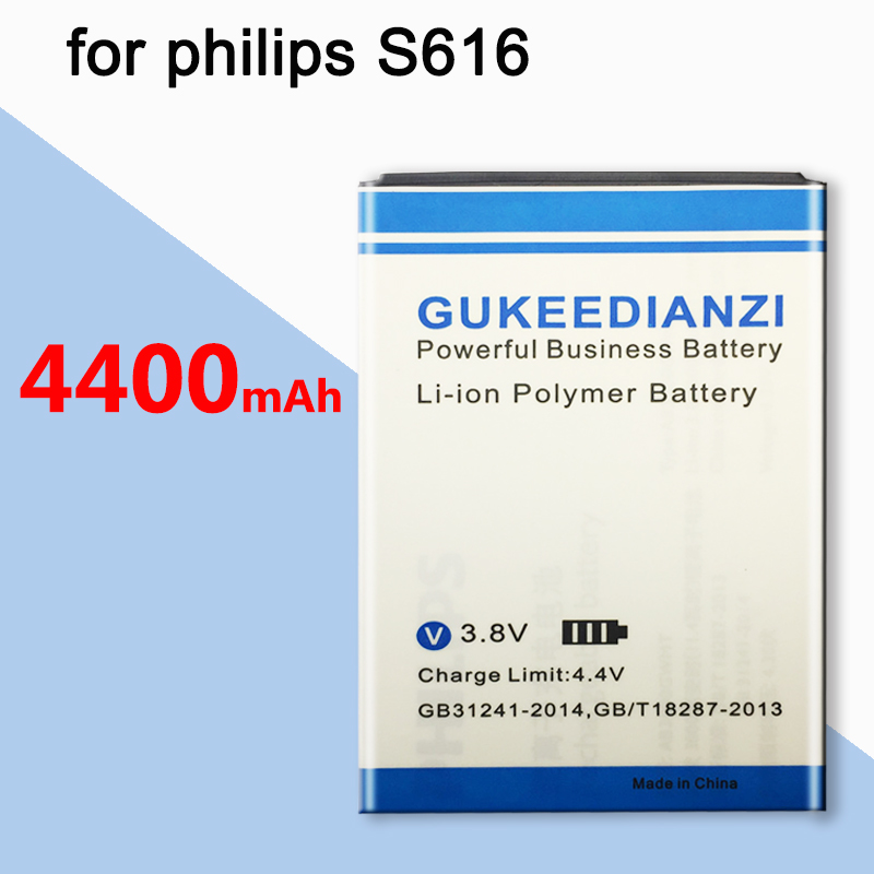 GUKEEDIANZI AB3000GWMT New 4400mAh Battery For Philips Xenium CTS616 S616 S 616 Rechargeable Cell Phone Battery