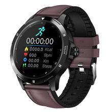 K15 relógio inteligente homem botão rotativo navegação relojes temperatura do corpo esporte inteligente bluetooth 5.0 mudança cinta