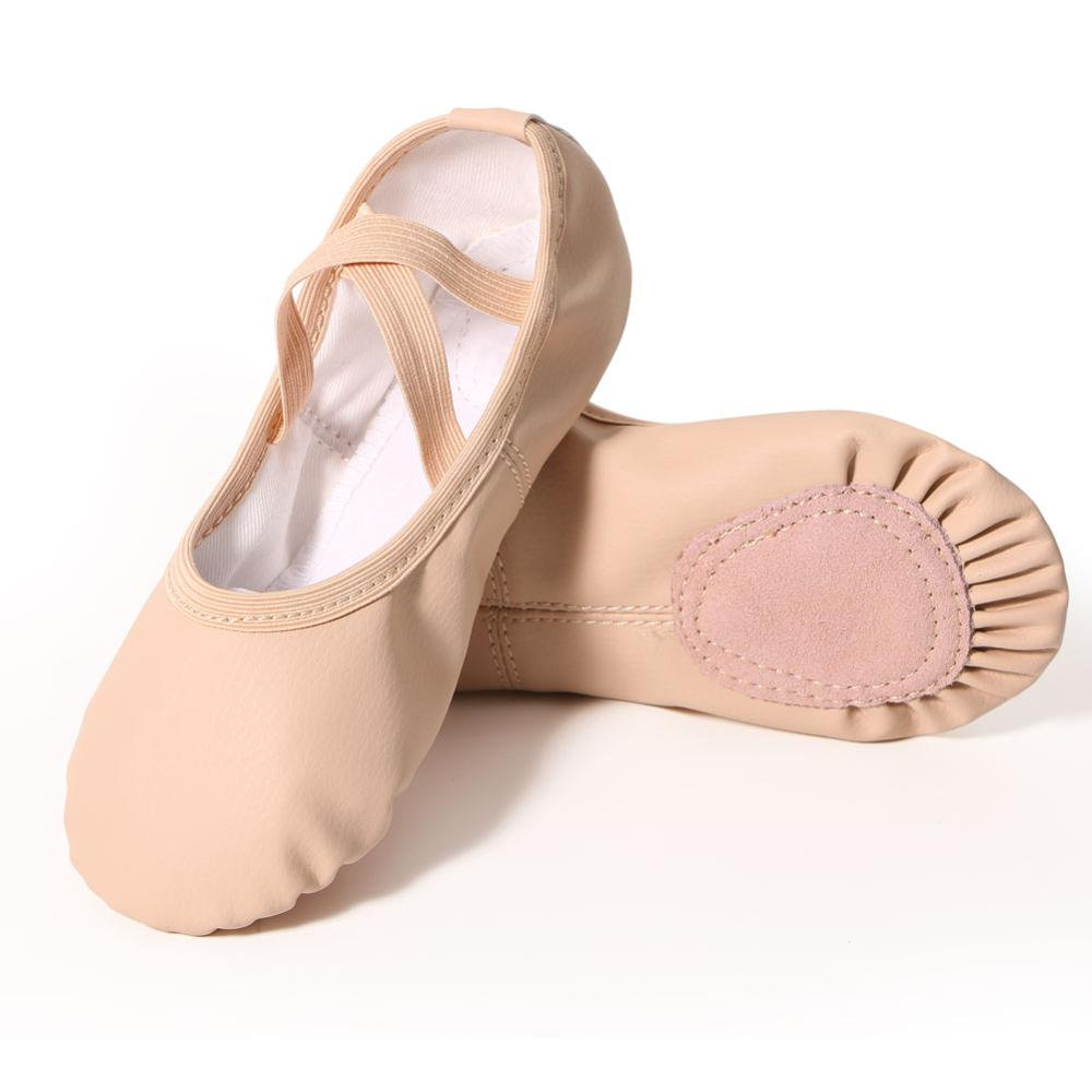 Kids PU Leather Ballet Shoes Girls Soft Sole Dance Slippers Professional Children Ballet Slippers Toddler Dance Shoes