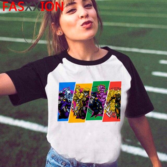 Cool Anime Jojo Bizarre Adventure T-shirt Men Unisex Streetwear Casual Tshirt Manga Funny Cartoon T Shirt Hip Hop Top Tees Male