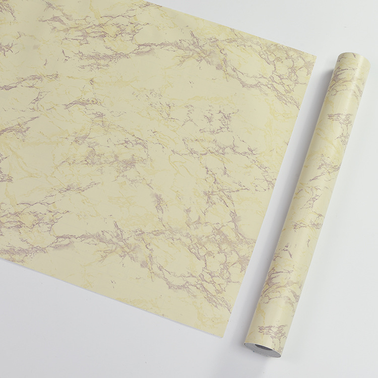 Modern Minimalist Jade Marble Brick Pattern PVC Wallpaper Self-Adhesive Waterproof Wall Wallpaper Students Dormitory Self-adhesi