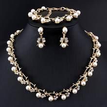 Hochzeit halskette ohrring define braut schmuck setsfrauen elegante partei geschenk modo schmuck