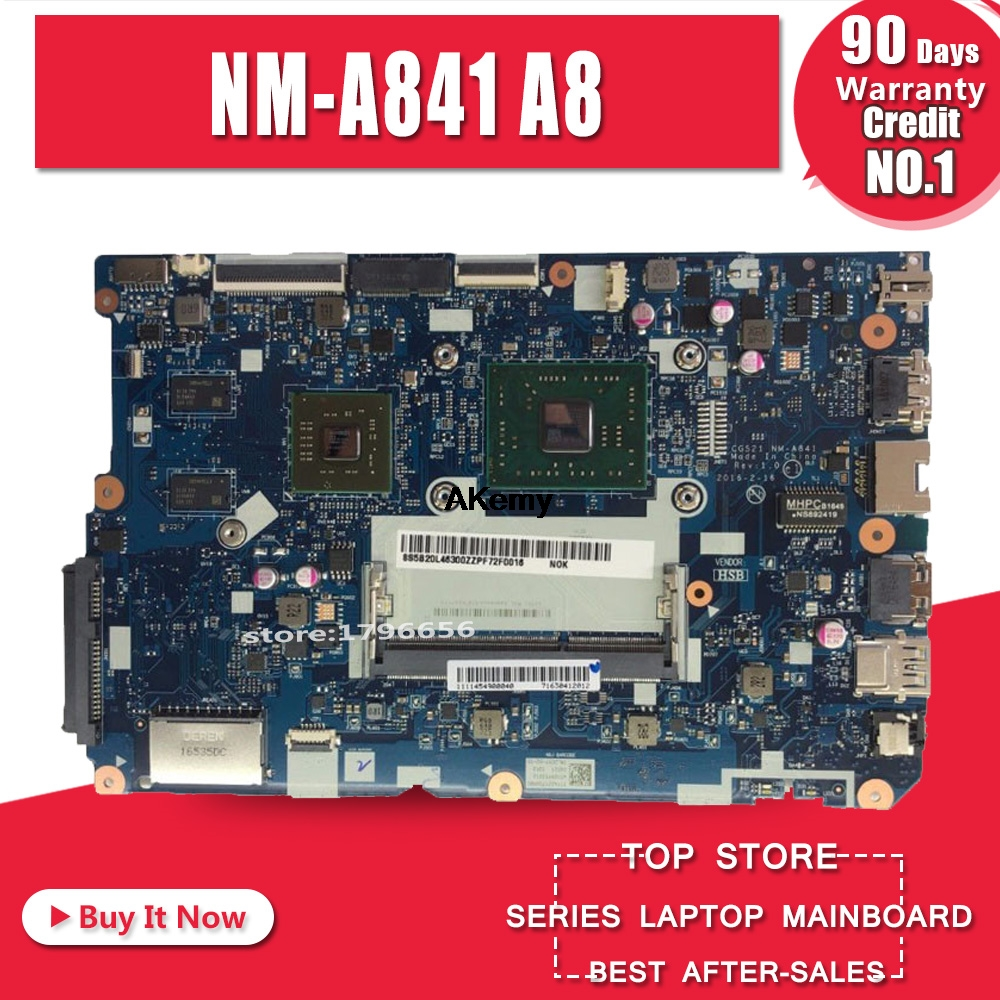 NM-A841 Mainboard For Lenovo 110-15ACL Laptop Pc Motherboard With AMD A8 CPU R5 M430 2G GPU