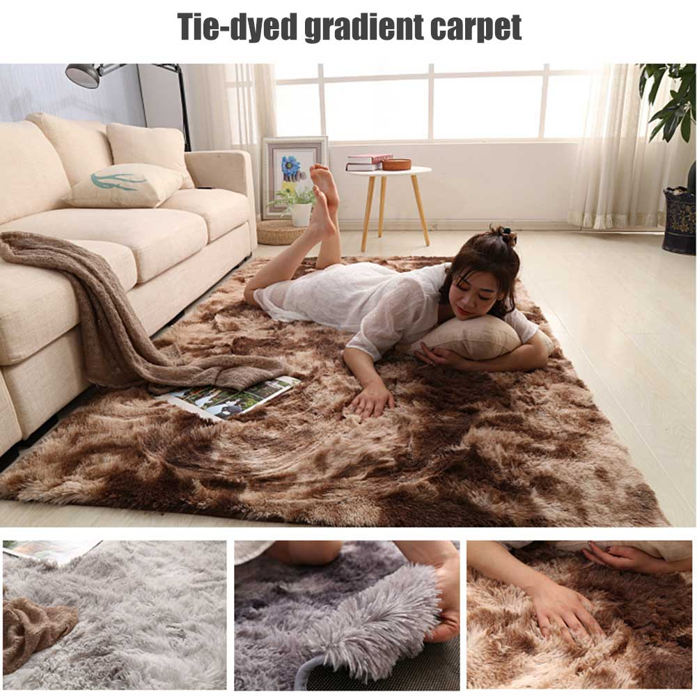 Simple Nordic Carpet Long Plush Soft Carpet Rug For Bedroom Living Room SEP99