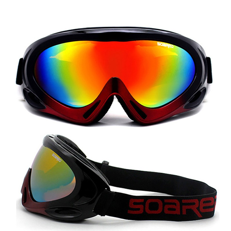 Skiing Goggles Adult & Children PC Lens Breathable Sponge Outdoor Sports Glasses Skiing Eyewear*