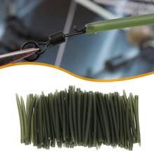 20 pces/40 pces 53mm tpr terminal anti emaranhado mangas conectar com ganchos de pesca carpa pesca enfrentar caixas iscas ferramentas